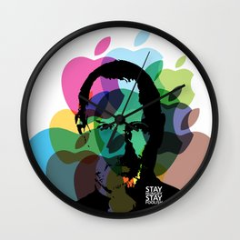 Lab No. 4 - Steve Jobs Inspirational Typography Print Poster Wall Clock