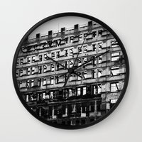 building Wall Clocks featuring Building by Tristan Tait