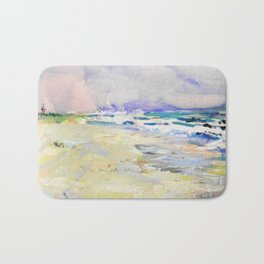 oil sea painting Bath Mat