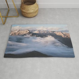 Up above the alpine sea of clouds Rug