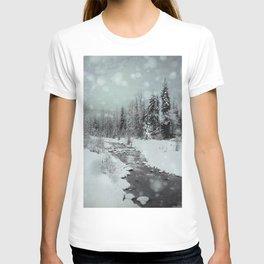 Blue Winter Landscape T-shirt