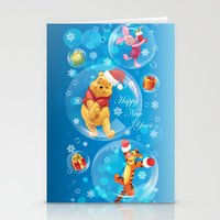 tigger Stationery Cards featuring New Year Card by Veronika