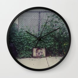 wine, trash Wall Clock