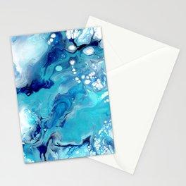 Aqua Dreams Abstract Stationery Cards