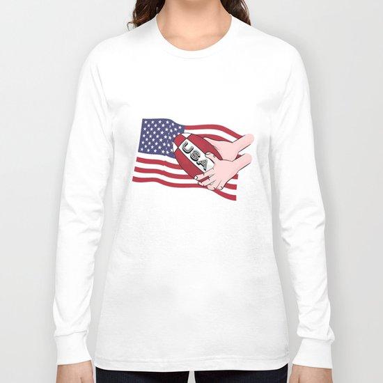 Rugby USA Flag  Long Sleeve T-shirt