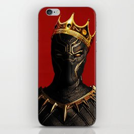 Black Panther King Wakanda Forever T'Challa Shirt iPhone Skin
