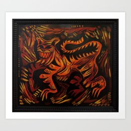 Tiger Strut Art Print