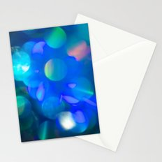 Bokeh in Blue Stationery Cards