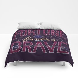 Fortune Favors the Brave Comforters