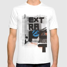 Extra-Fat White Mens Fitted Tee MEDIUM