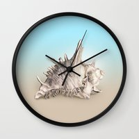 shell Wall Clocks featuring Shell by RasaOm