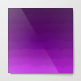 Ultra Violet Waves - Rich Purple Gradient Metal Print