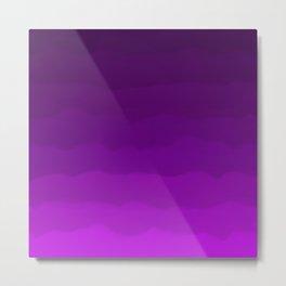Ultra Violet Waves - Rich Purple Gradient Metal Print