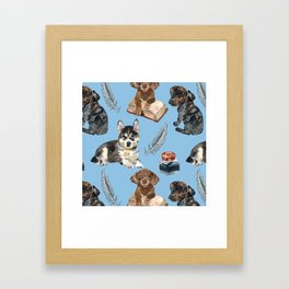 School of dogs Framed Art Print