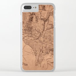 Map Of Washington 1802 Clear iPhone Case