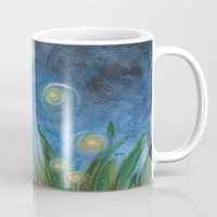 fireflies Mugs featuring Fireflies by Kristen Fagan