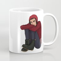 zayn Mugs featuring Comfy Zayn by Ashley R. Guillory