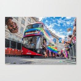 Rainbow Bus Pride In London Canvas Print