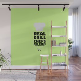 Real Grill Chefs are from Great Britain Dmci5 Wall Mural