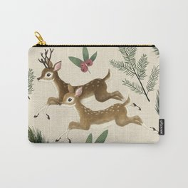 winter deer // repeat pattern Carry-All Pouch
