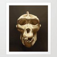 Gorilla skull Art Print