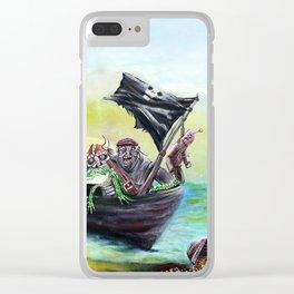 Pirate Booty Beach Clear iPhone Case
