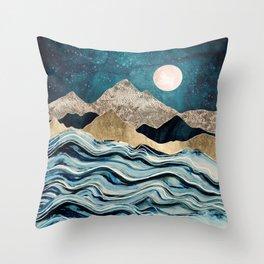 Indigo Sea Throw Pillow