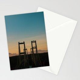 Tacoma Narrows Sunset Stationery Cards