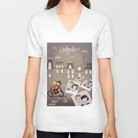 amelie V-neck T-shirts featuring Amelie by The Fan Wars