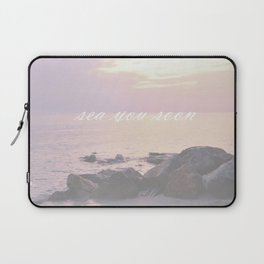 Sea You Soon Sunset Laptop Sleeve