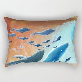 Blue Hole fish Rectangular Pillow