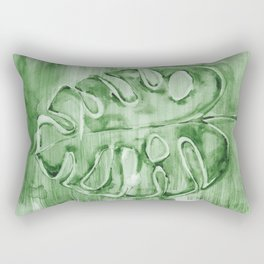 Plam Leaf Monstera 2h Rectangular Pillow