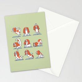 Cavalier King Charles Spaniel Yoga Stationery Cards