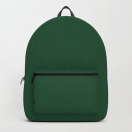 Lucky Dark Green Solid Color Pairs To Sherwin Williams Shamrock SW 6454 Backpack