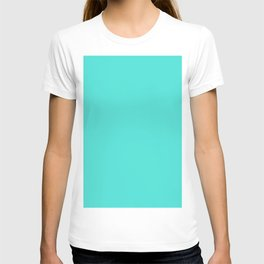 bright turquoise T-shirt