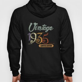 1935 Vintage Birthday Shirt for Men and Women Hoody