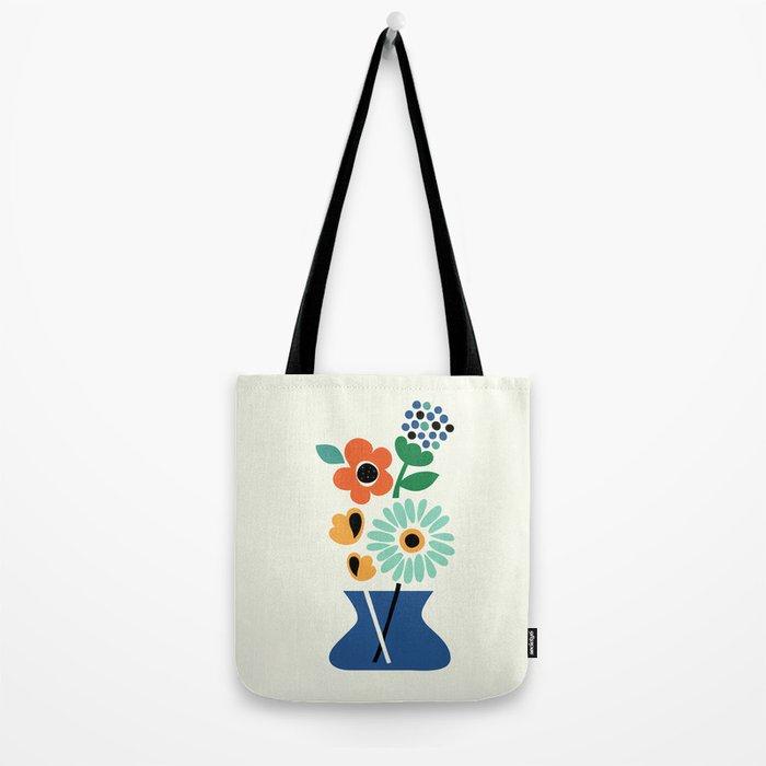 Floral Time Tote Bag