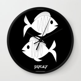 Fishes ~ Pisces ~ Zodiac series Wall Clock