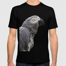 African grey parrot Mens Fitted Tee Black MEDIUM