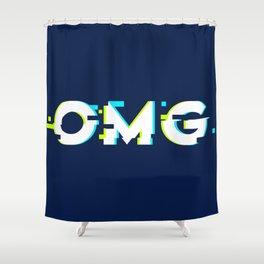 OMG (Glitch) Shower Curtain