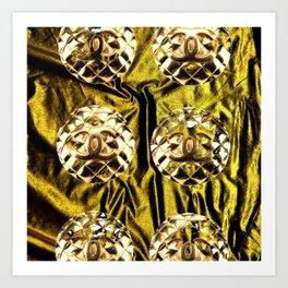 gold vintage earrings coco Art Print