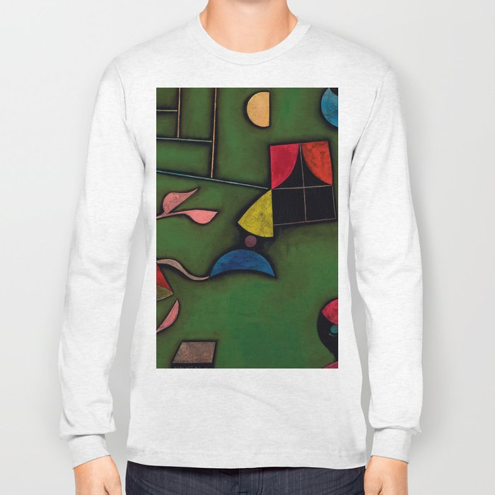 "Paul Klee ""Pflanze und Fenster Stilleben (Still life with Plant and Window)"" Long Sleeve T-shirt"