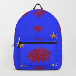marine pattern Backpack