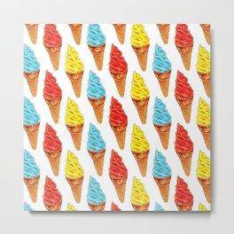 Ice Cream Pattern Metal Print
