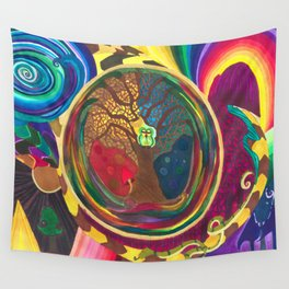 The Cosmic Owl pt. 2 Wall Tapestry