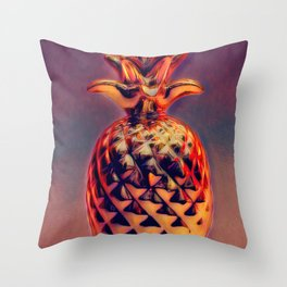 Red Abstract 8 Throw Pillow