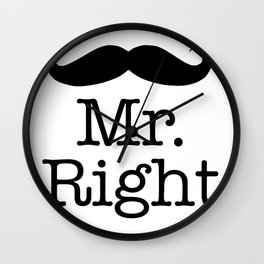 mr. right with matching mrs. right Wall Clock