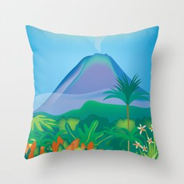 Costa Rica - Skyline Illustration by Loose Petals Throw Pillow