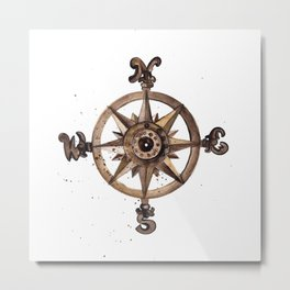 Wheel - Compass Metal Print