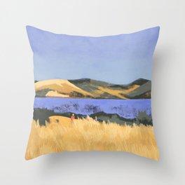 Lake in Marin County Throw Pillow